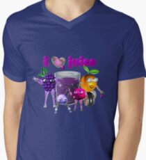 I Heart Love Juice Men's V-Neck T-Shirt