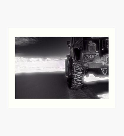 Jeeping in the grasslands North Dakota Art Print