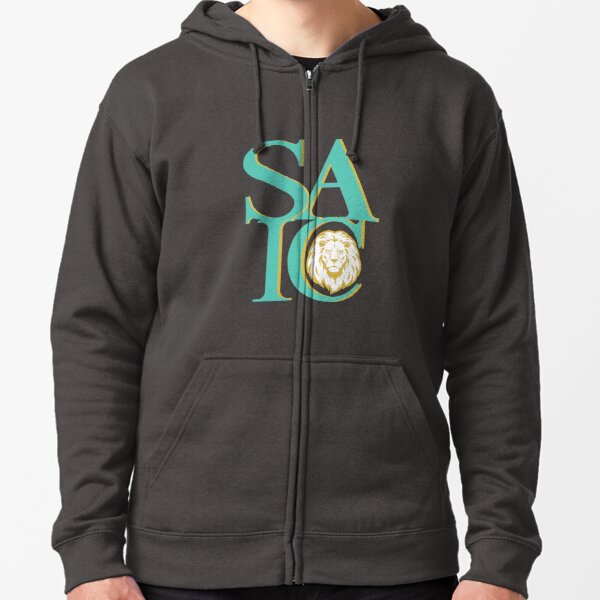 School of the Art Institute of Chicago Gold Lion Zipped Hoodie