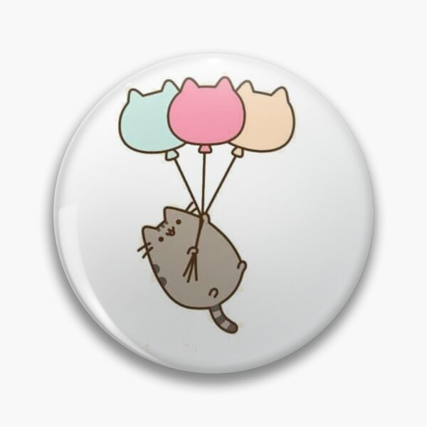 Kitty with ballons Pin