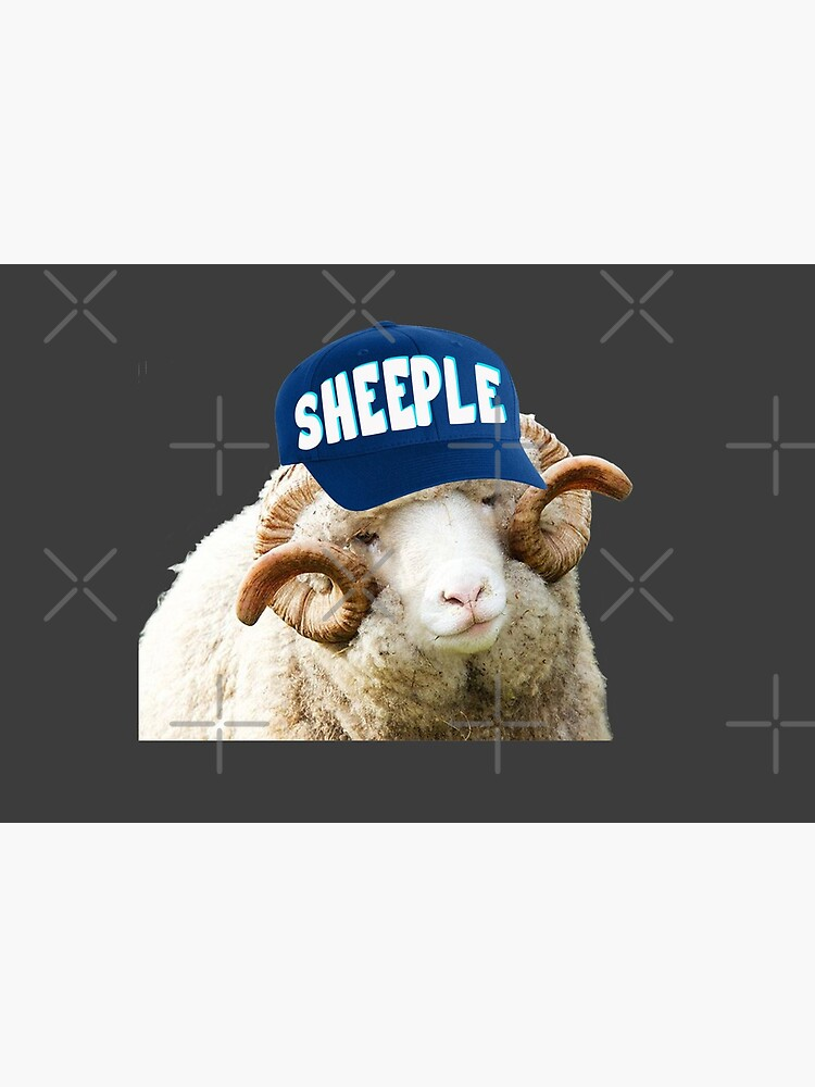 Sheep with Sheeple Hat Political humor funny liberals by JenniferMac