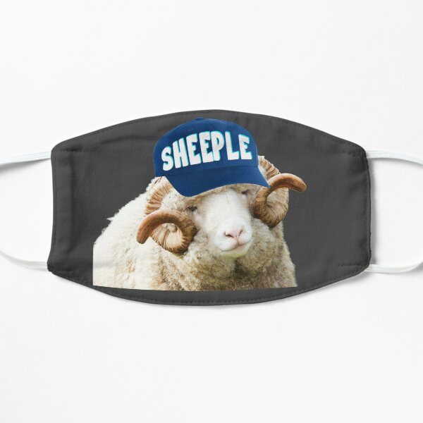 Sheep with Sheeple Hat Political humor funny liberals Mask