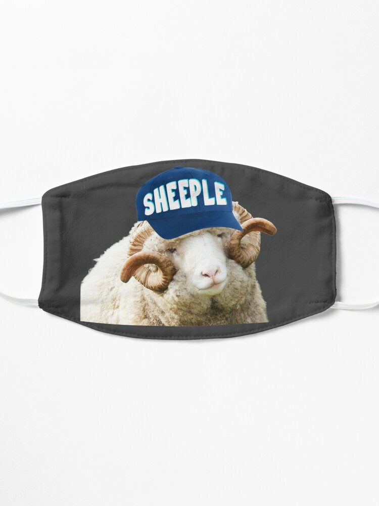 Alternate view of Sheep with Sheeple Hat Political humor funny liberals Mask