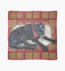 Pañuelo Ted on Red, Black Lab
