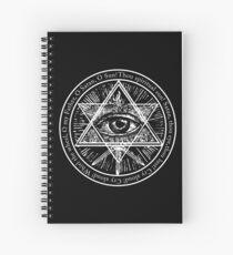 O FATHER, O SATAN, O SUN - solid white ***find hidden gems in my portfolio*** Spiral Notebook