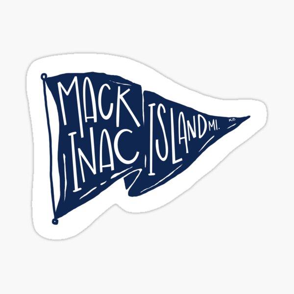 Mackinac Island Flag - Navy Sticker