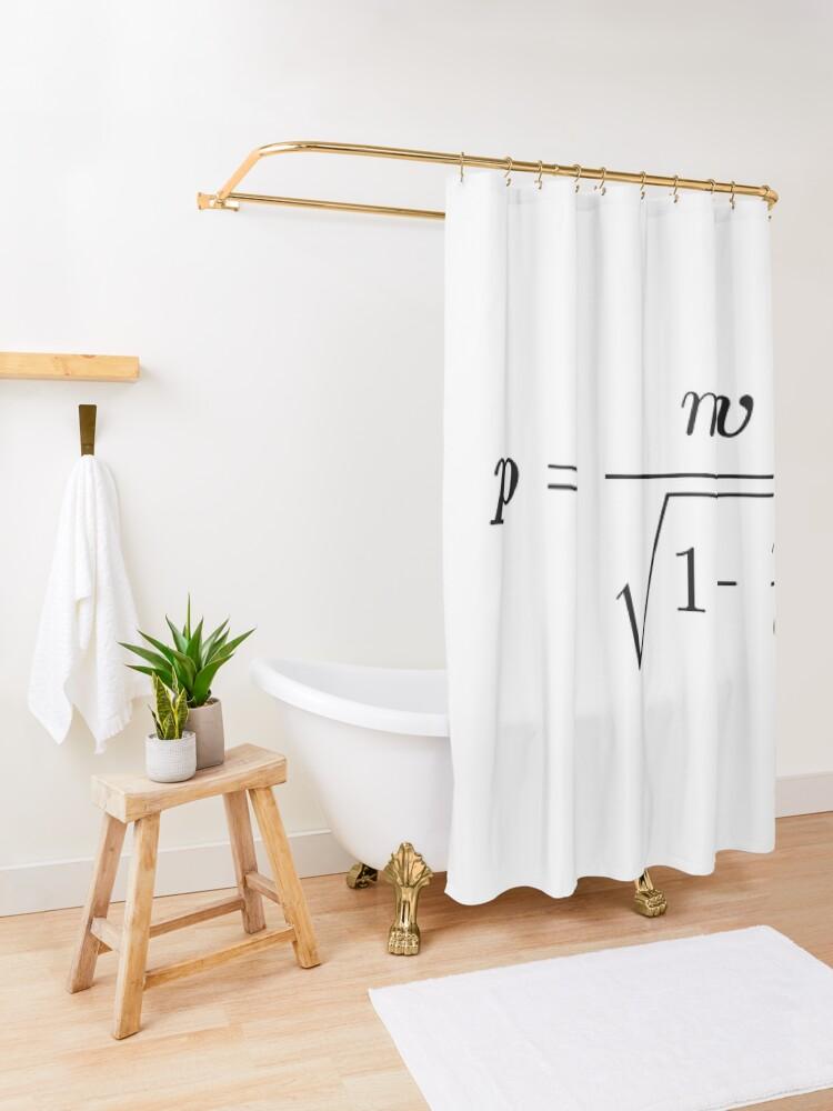 Alternate view of Momentum Shower Curtain