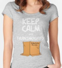 Keep Calm and Transmogrify Women's Fitted Scoop T-Shirt