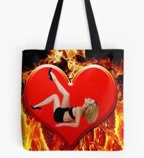 ❤‿❤ FLAMING HEART DESIRE ❤‿❤  Tote Bag