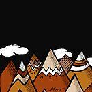 Dusty Mountain - Black by Jenna Gregory