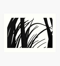 Black reeds Art Print