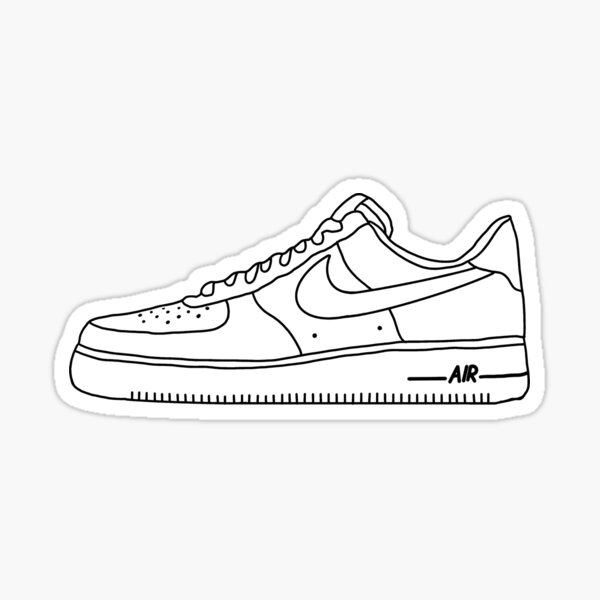 air force ones sticker Sticker