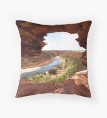Looking through Natures Window Throw Pillow