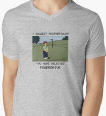 Lee Carvello's Putting Challenge Men's V-Neck T-Shirt