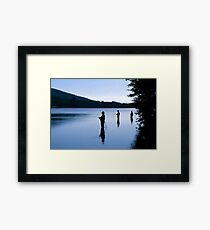 Fishing at Daybreak Framed Print
