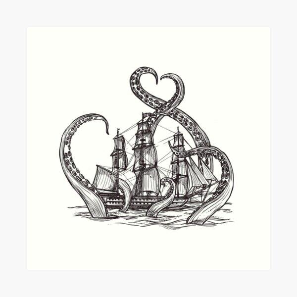 Kraken Art Print