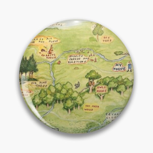 Hundred Acre Woods Map Pin