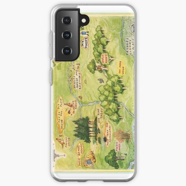 Hundred Acre Woods Map Samsung Galaxy Soft Case