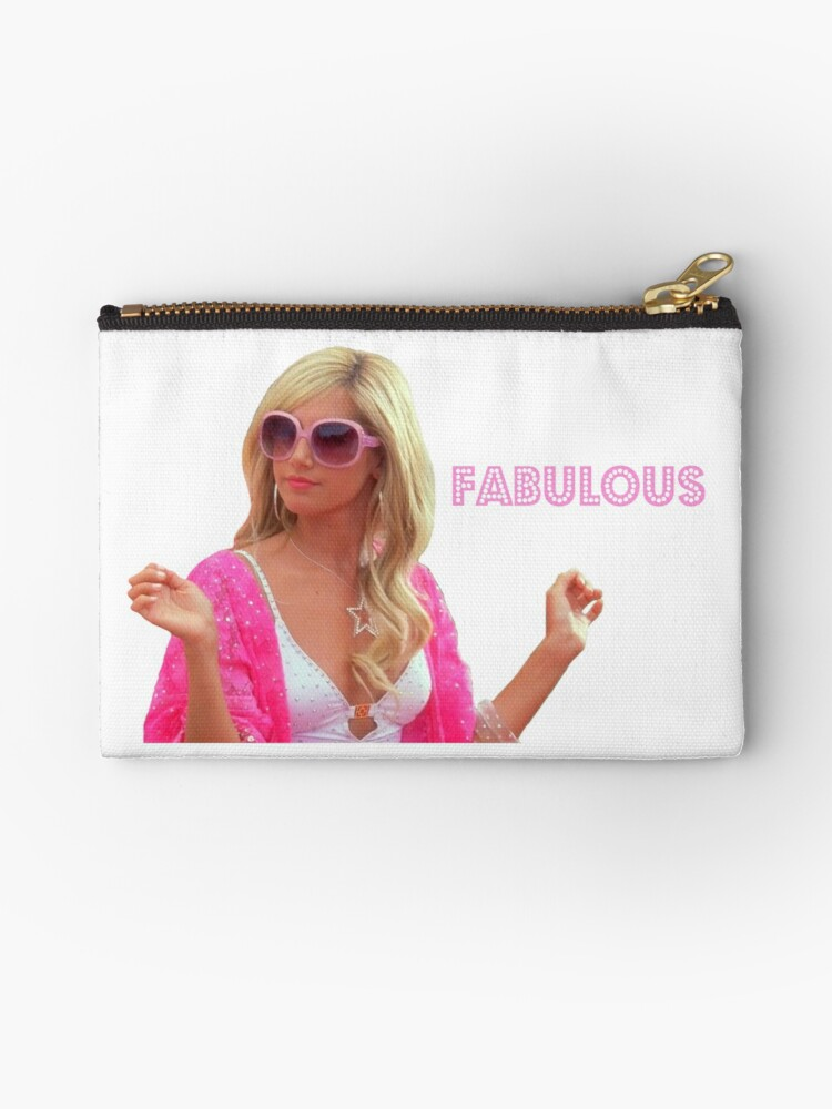 sharpay fabulous zipper pouch by faithc340 redbubble