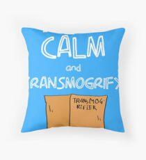 Keep Calm and Transmogrify Throw Pillow