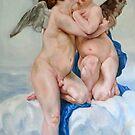 First Kiss after W. Bouguereau by Hidemi Tada