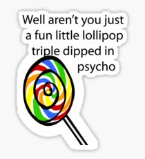 Lollipop Psycho Sticker