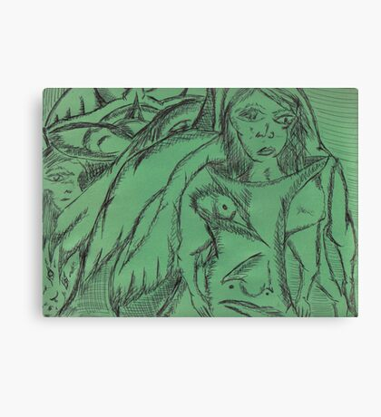 devil on the angels wings Canvas Print