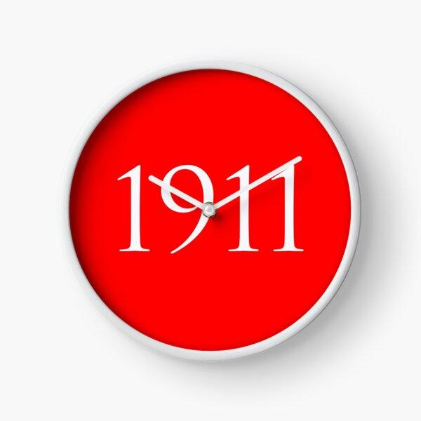White 1911 Clock