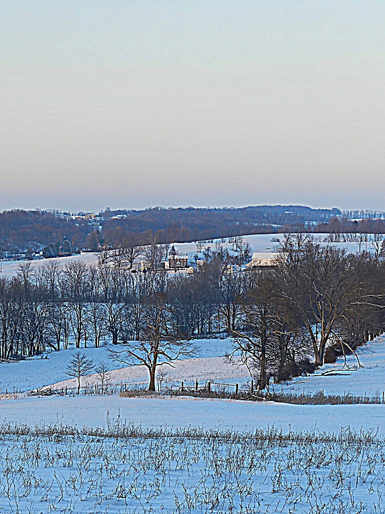 At Dusk the Snow Turns Blue Like the Distant Hills by TrendleEllwood
