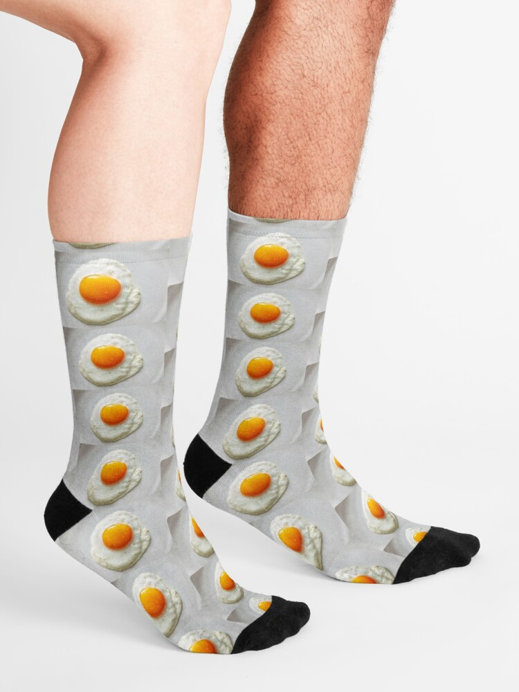 Alternate view of Eggs, Breakfast food, Egg socks, Egg dress, Egg leggings, Egg notebook, Egg coasters  Socks