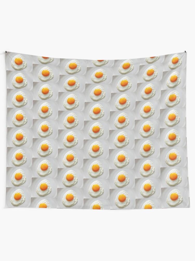 Alternate view of Eggs, Breakfast food, Egg socks, Egg dress, Egg leggings, Egg notebook, Egg coasters  Tapestry