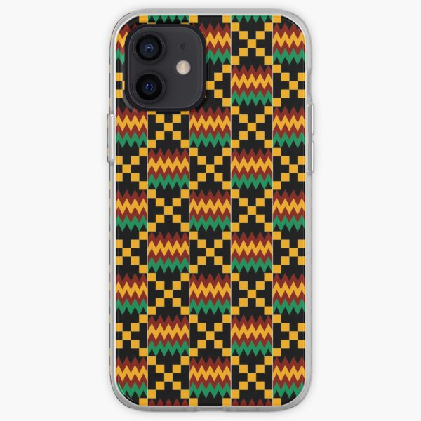 Yellow, Green, Red, Black, Kente Cloth iPhone Soft Case