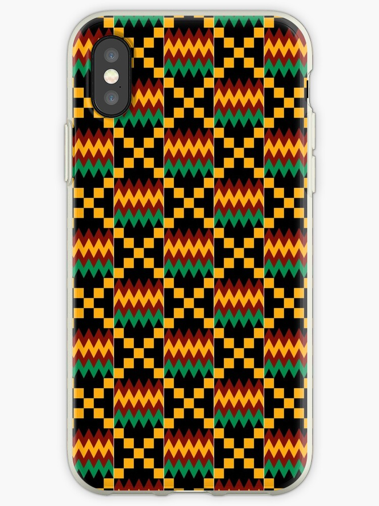newest 58f2c 3392f 'Yellow, Green, Red, Black, Kente Cloth' iPhone Case by Mtothe5thPower