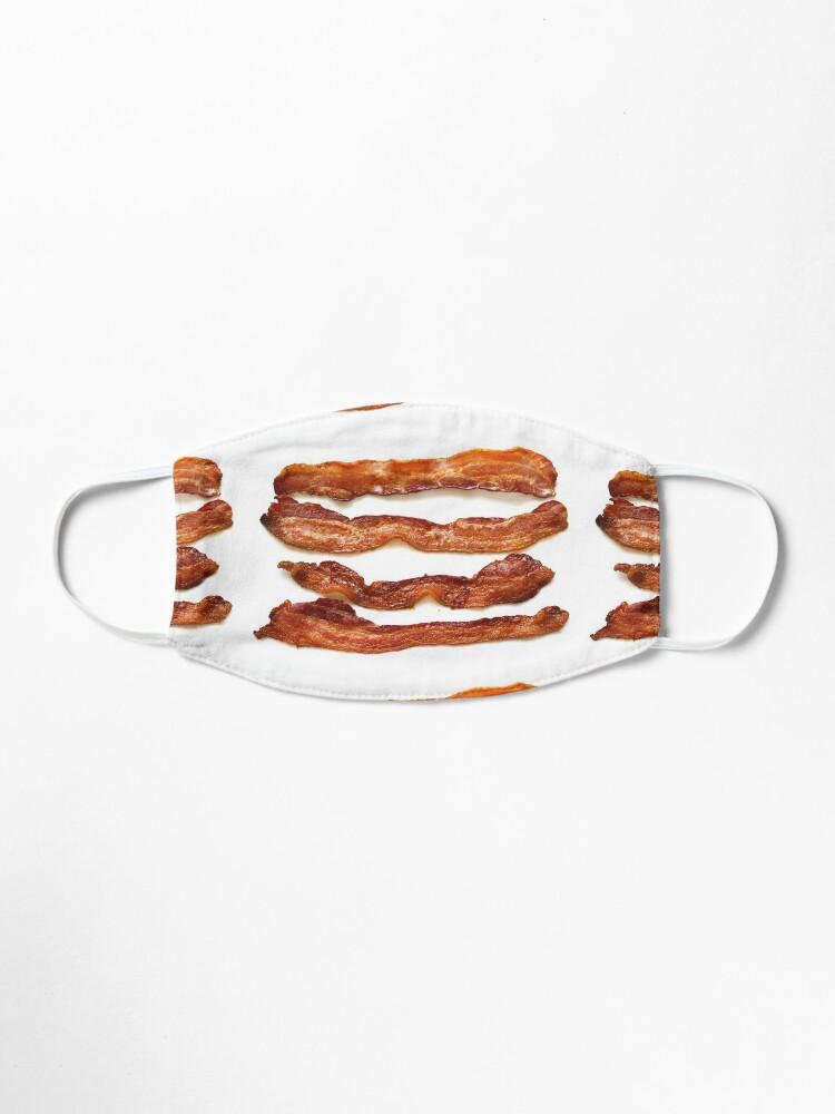 Alternate view of Bacon, Bacon socks, Bacon greeting card, Bacon mug, Bacon pillow, Bacon mask  Mask