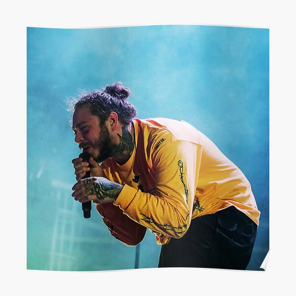 blue and yellow malone Poster