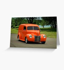 1940 Ford Panel Truck Greeting Card