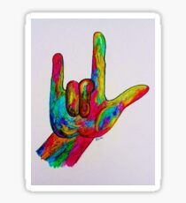 I LOVE YOU - American Sign Language Sticker