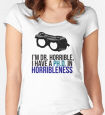 PH D in Horribleness A Women's Fitted Scoop T-Shirt