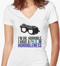PH D in Horribleness A Women's Fitted V-Neck T-Shirt