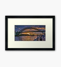 Newcastle Sunset Framed Print