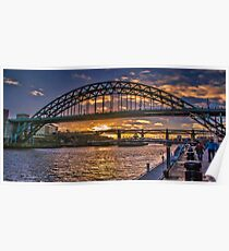 Newcastle Sunset Poster