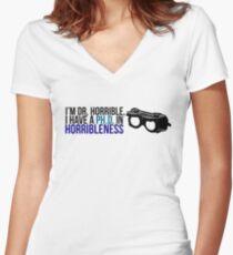 PhD in Horribleness B Women's Fitted V-Neck T-Shirt