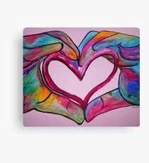 Universal Sign for Love - You Hold my Heart in Your Hand Canvas Print