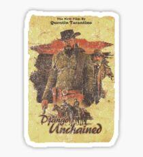 Django Unchained - Poster Sticker