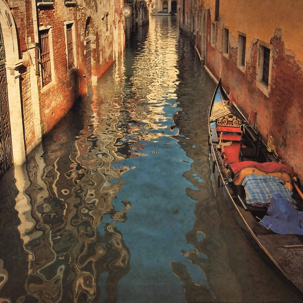 Venetian Evening Shimmer-Venice, Italy by Deborah Downes