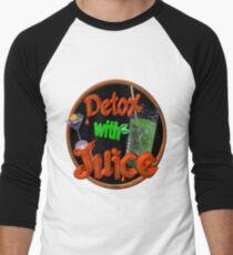 Detox with Juice by Valxart Men's Baseball ¾ T-Shirt
