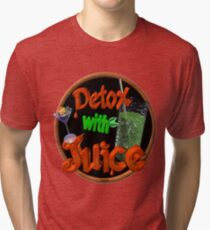 Detox with Juice by Valxart Tri-blend T-Shirt