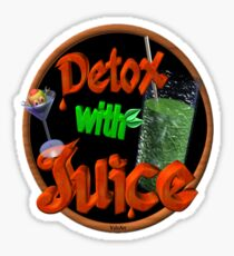Detox with Juice by Valxart Sticker