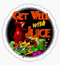 Get well with juice by Valxart Sticker
