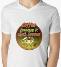 Coffee Drinkers are great lovers  Valxart.com Men's V-Neck T-Shirt